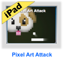 pixel art attack game for iPad
