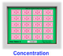 multiplication game- concentration