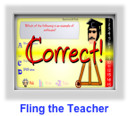 multiplication game- fling the teacher