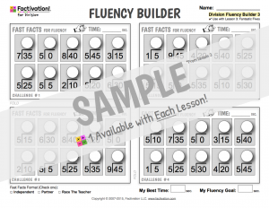 Division Fact Fluency Builder