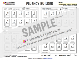 Multiplication Facts Fluency Builder