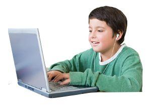 boy on computer