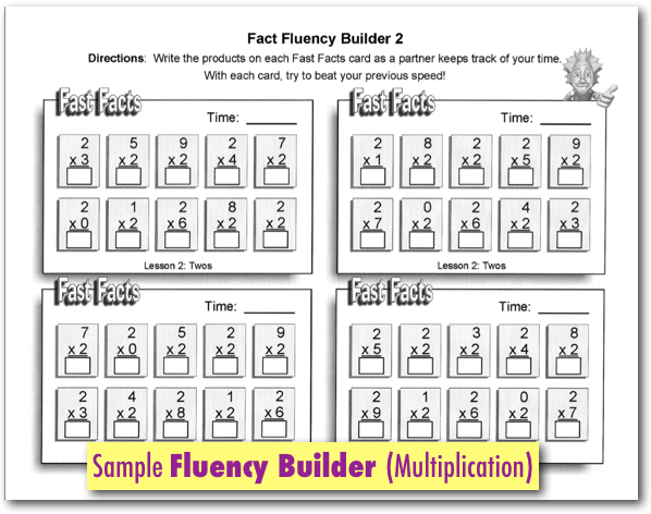 Lesson 5 Printables – Multiplication Fluency Worksheets